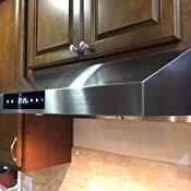 Amazon Com Chef 30 Ps18 Under Cabinet Range Hood Stainless Steel Pro Performance Contemp Range Hood Under Cabinet Range Hoods Modern Contemporary Design