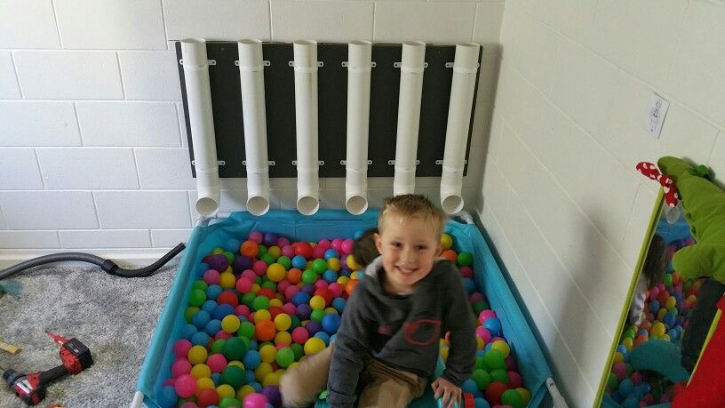 Kids loved the new addition to the ball pit. Quick easy and cheap to build.