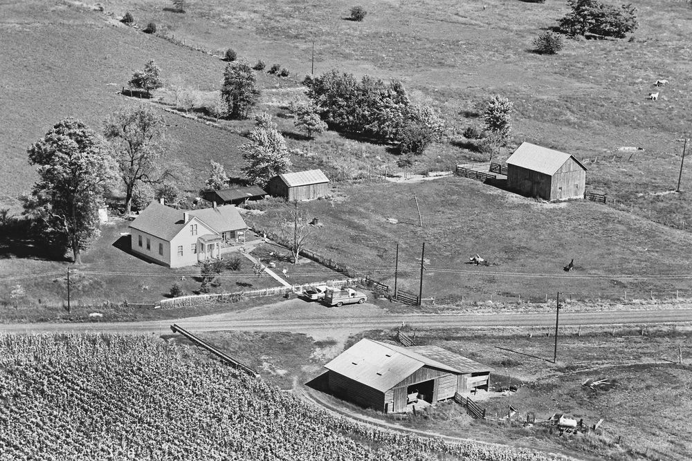 Historic Aerial Photography Of Rural American Farms And Homesteads Aerial Photography Aerial Images Aerial Photograph