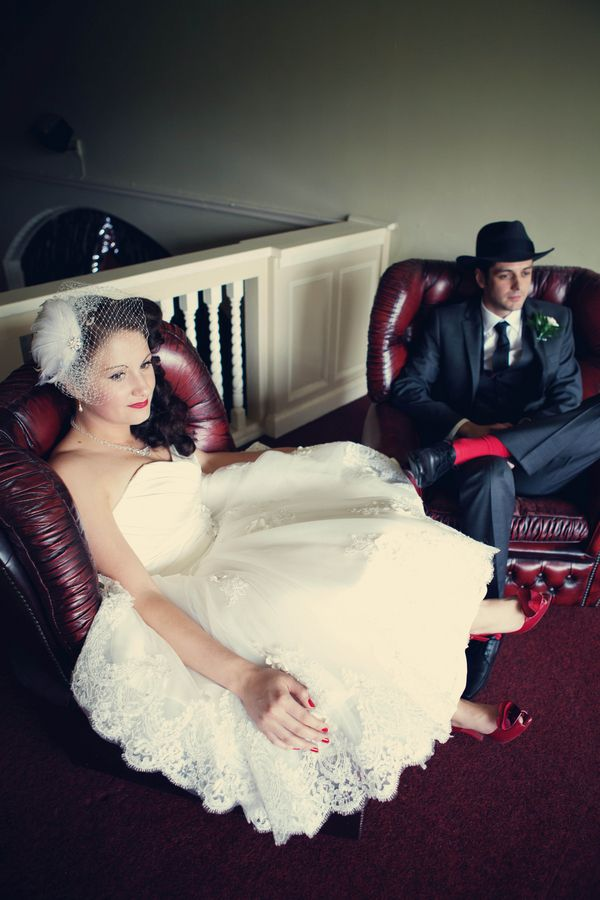 1950s Gangster Themed Wedding Dress