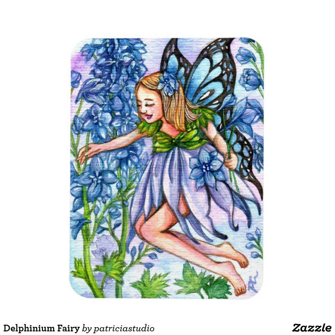 square card fairy spring gift child Cute fairy postcard