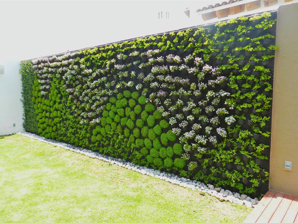 Pin de m nica urrea triana en jardiner a reciclaje huerto en casa muros verdes verde y - Como hacer un muro verde ...