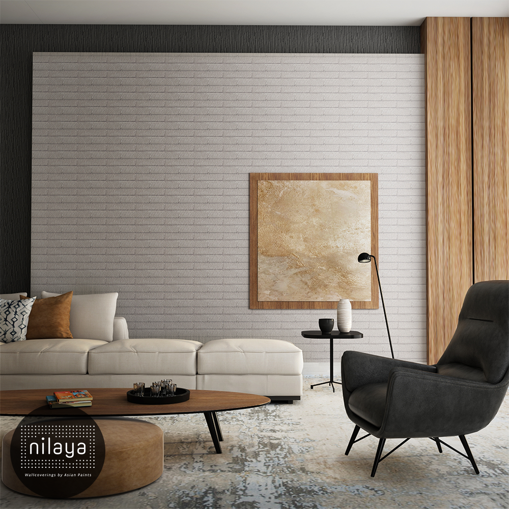 This Soft Grey Brick Pattern Offers The Perfect Backdrop For A Smart Oh So Stylish Look Wallpaper House Design Interior Wallpaper Wall Coverings