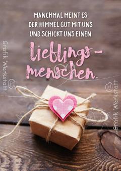 Lieblingsmenschen  Postkarte  Grafik Werkstatt Bielefeld  SprcheSammlung  Sprche zum