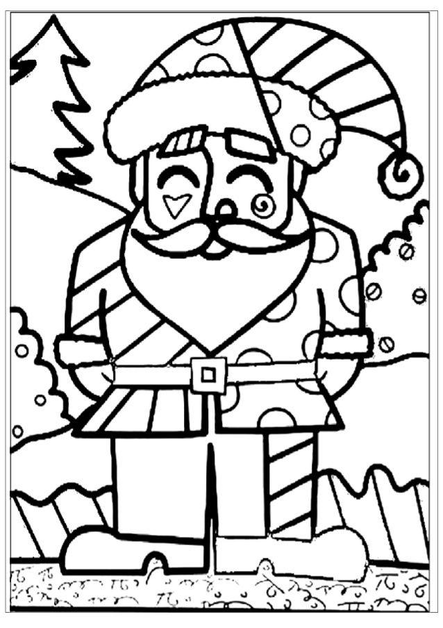 Artes Visuais Natal Romero Brito Desenhos Natalinos Para Colorir
