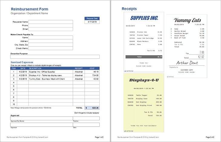 per diem expense report template (6 di 2020 objective letter sample resume format download for students customer service position