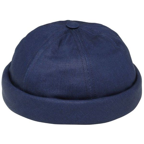 2f9703b97cf Béton Ciré Men Handmade Washed Cotton Denim Sailor Hat (390 BRL) ❤ liked on  Polyvore featuring men s fashion