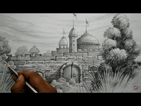 Learn simple pencil landscape art for beginners step by step youtube
