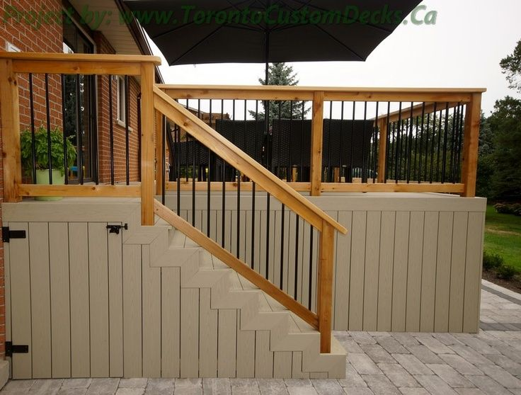 Enclosed Under Deck Storage Door Google Search Deck Stairs Outdoor Stairs Deck Skirting