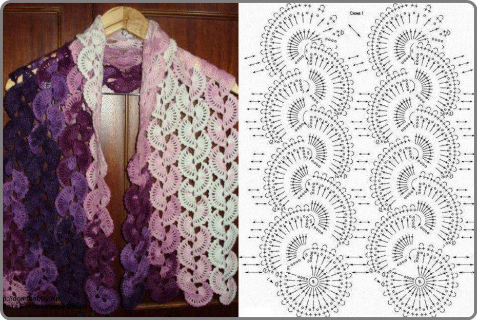 DIY Crochet Scarves Pattern   TEJIDOS   Pinterest   Tejido, Capilla ...