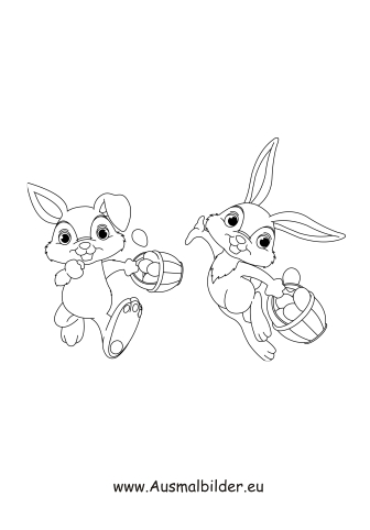 Easter Bunny Coloring Page Colors Coloring Pages Easter Malvorlage Hase Osterhase Malen Osterhase