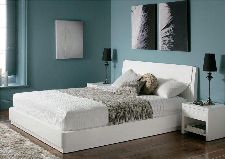 mobili camera da letto bianchi pareti azzurri   INTERIOR DESIGN ...