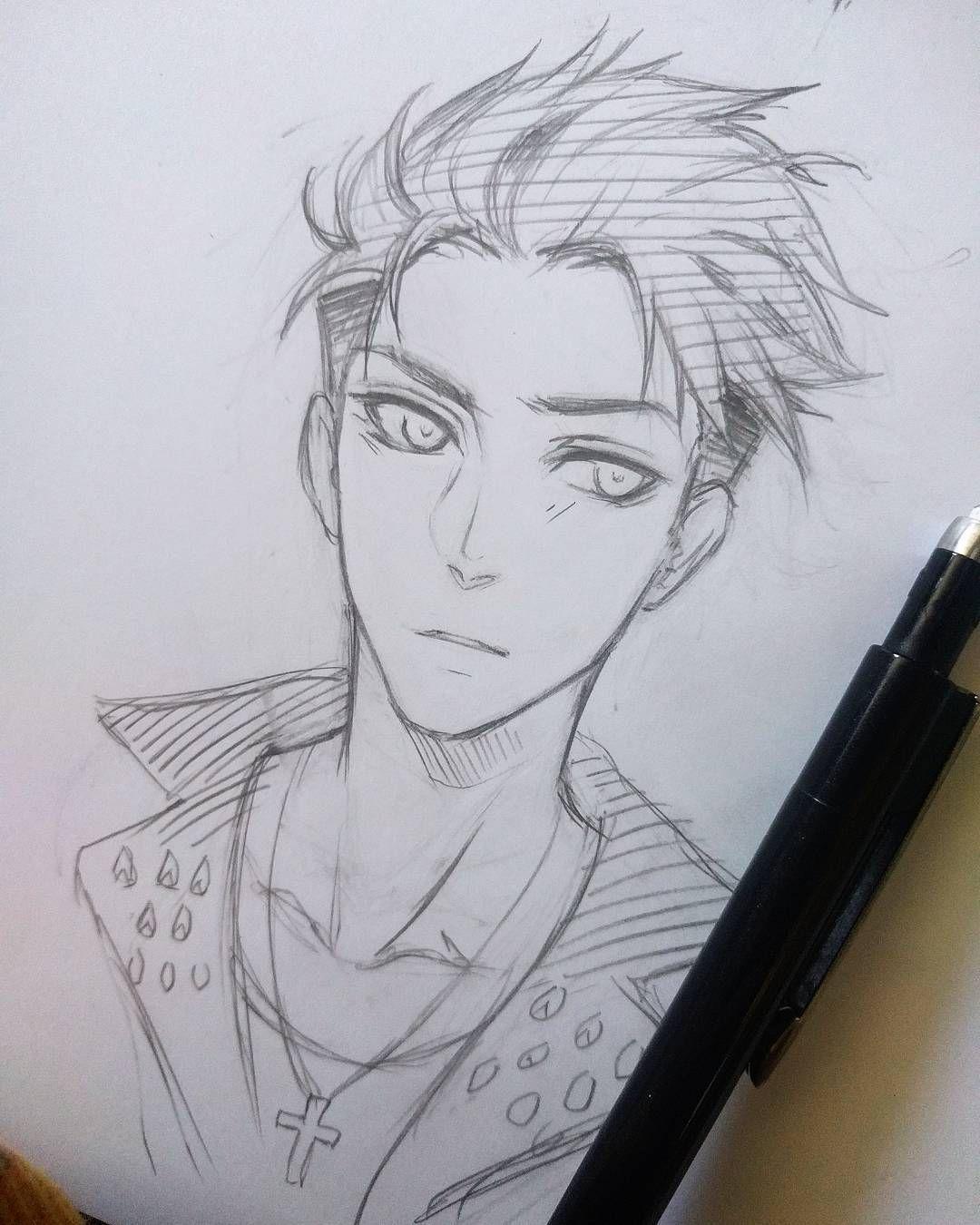 Tried To Draw Otabekaltin D Bishonen Filter On Fleek Yurionice Drawing Otabek Ske Anime Drawings Sketches Anime Drawings Boy Anime Drawings Tutorials