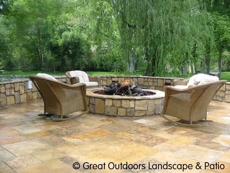 25 great stone patio ideas for your home | flagstone patio ... - Different Patio Ideas