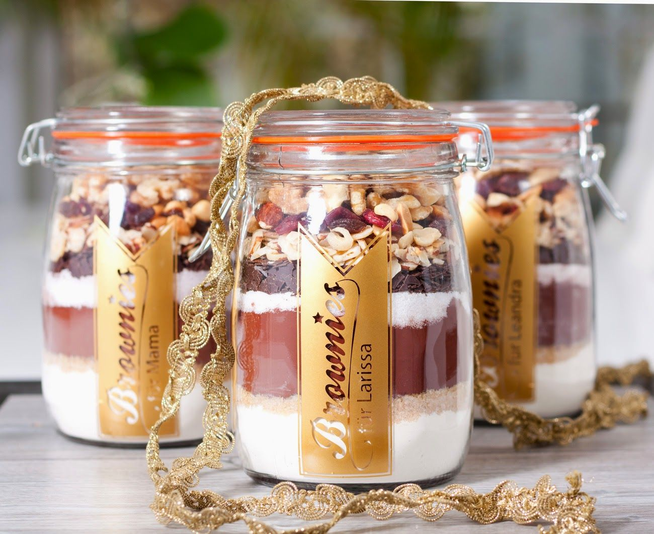 Glücksfinder Backmischung Im Glas Für Schokoladige Brownies Ostergeschenk Brownies In A Jar Diy Kitchen Gifts Edible Gifts