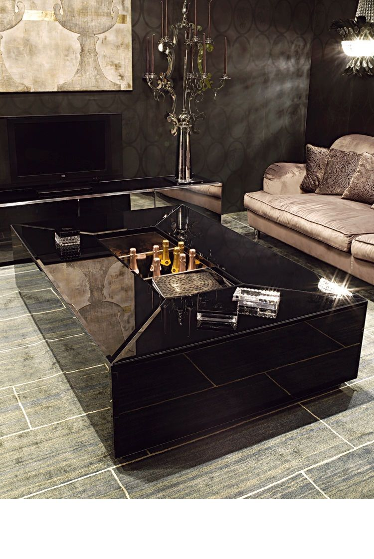 Instyle Decor Com Luxury Coffee Tables Cocktail Tables Luxury Interior Design Luxury Life Style L Luxury Coffee Table Coffee Table Black Glass Coffee Table