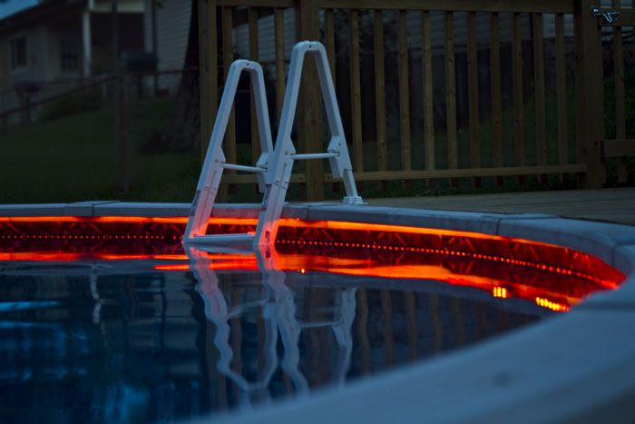 Swimming pool flexible led strips waterproof led strip light waterproof strips are silicone filled to protect the leds from water all along the top and sides of the strip if you do not do this there is risk of the aloadofball Images