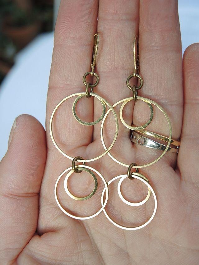 Moois van ' M(i)e': DIY oorbellen ringeling/earrings ringeling
