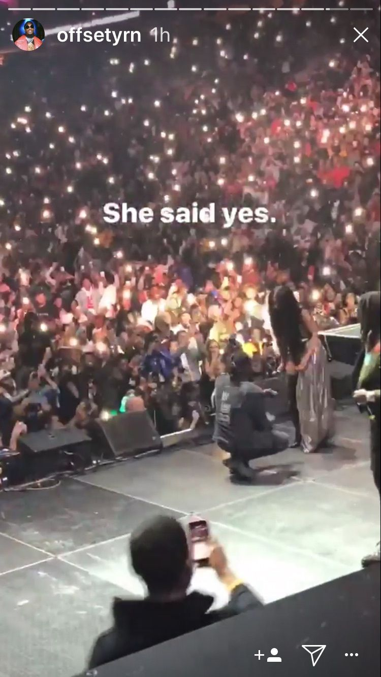 Cardi b and migos offset are engaged see her 8carat