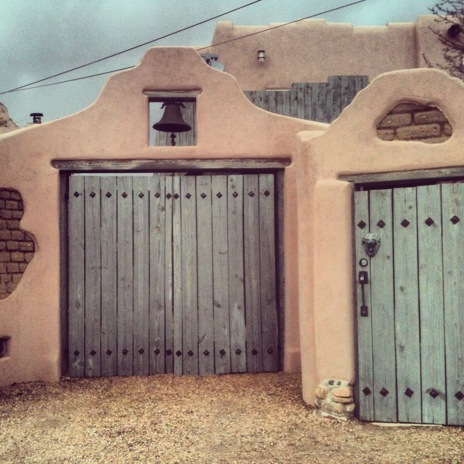 Doors of Santa Fe, NM. Adobe architecture .