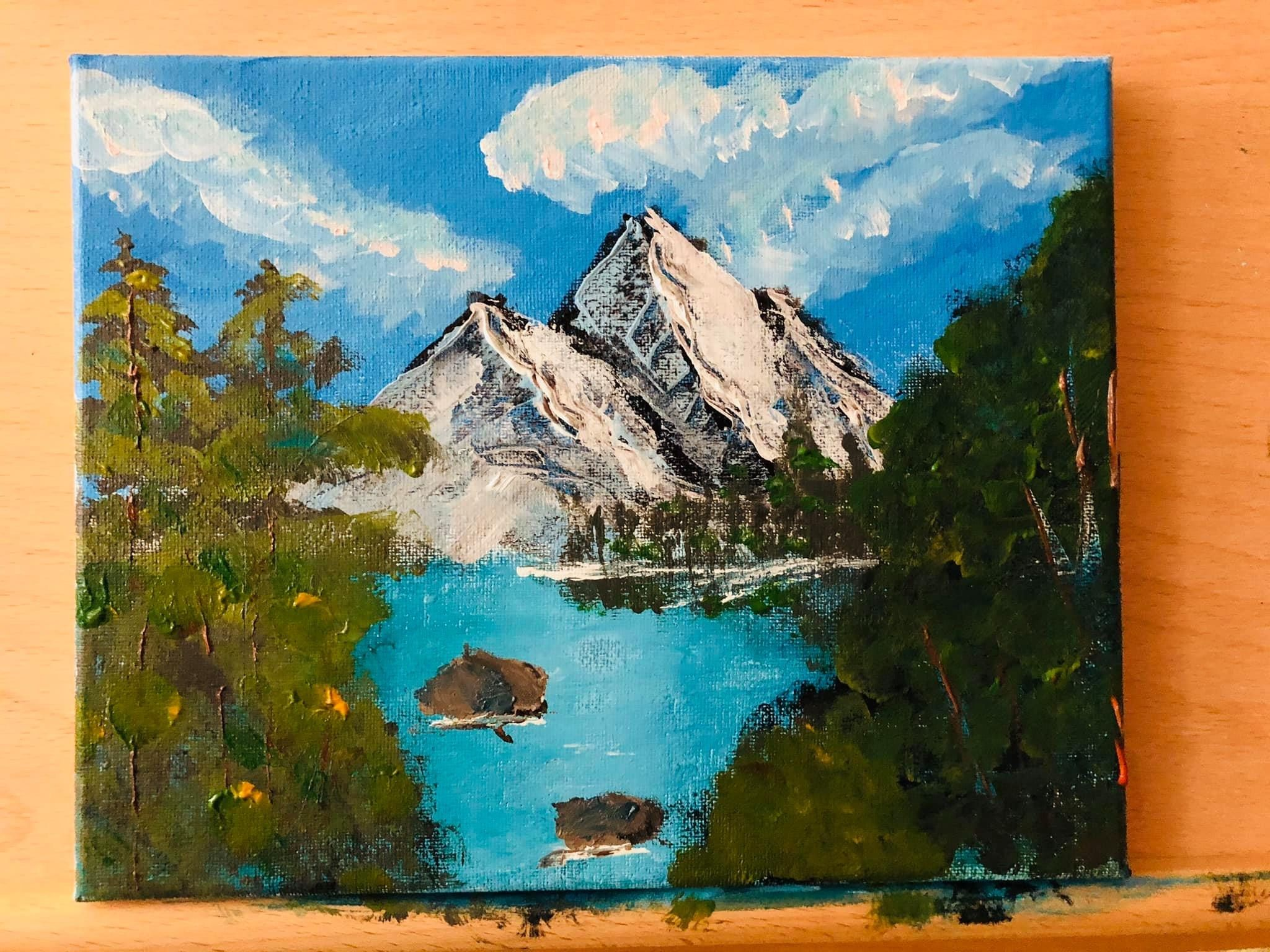 I Followed A Bob Ross Tutorial Of Towering Peaks Season 10