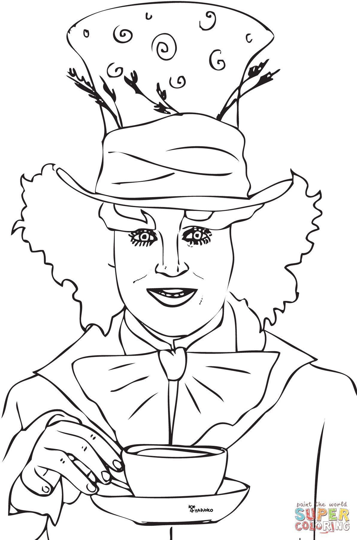Tim Burton Alice In Wonderland Coloring PagesBurtonPrintable