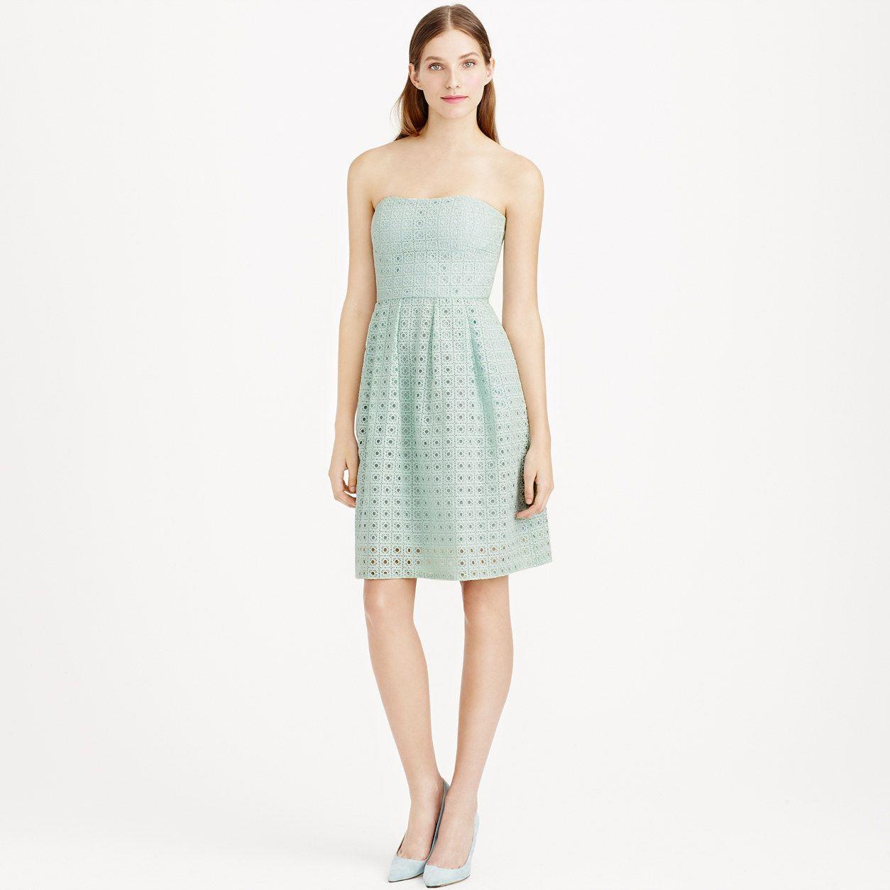 Green dress for wedding party  Hayley dress in organza eyelet  Bridesmaid  JCrew  Wardrobe