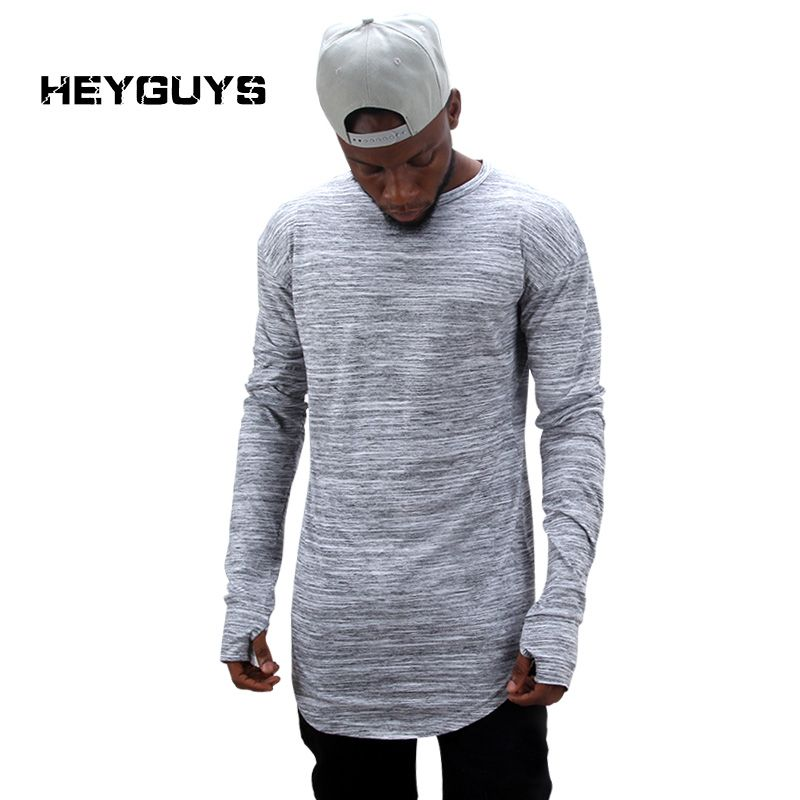 HEYGUYS 2018 extend hip hop street T-shirt wholesale fashion brand t shirts  men summer long sleeve oversize design hold hand 96% of buyers enjoyed this  ... d8be613fd1