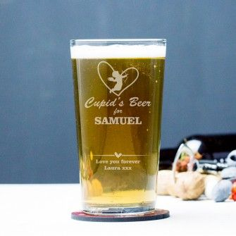 Engraved Pint Glass - Cupid's Beer