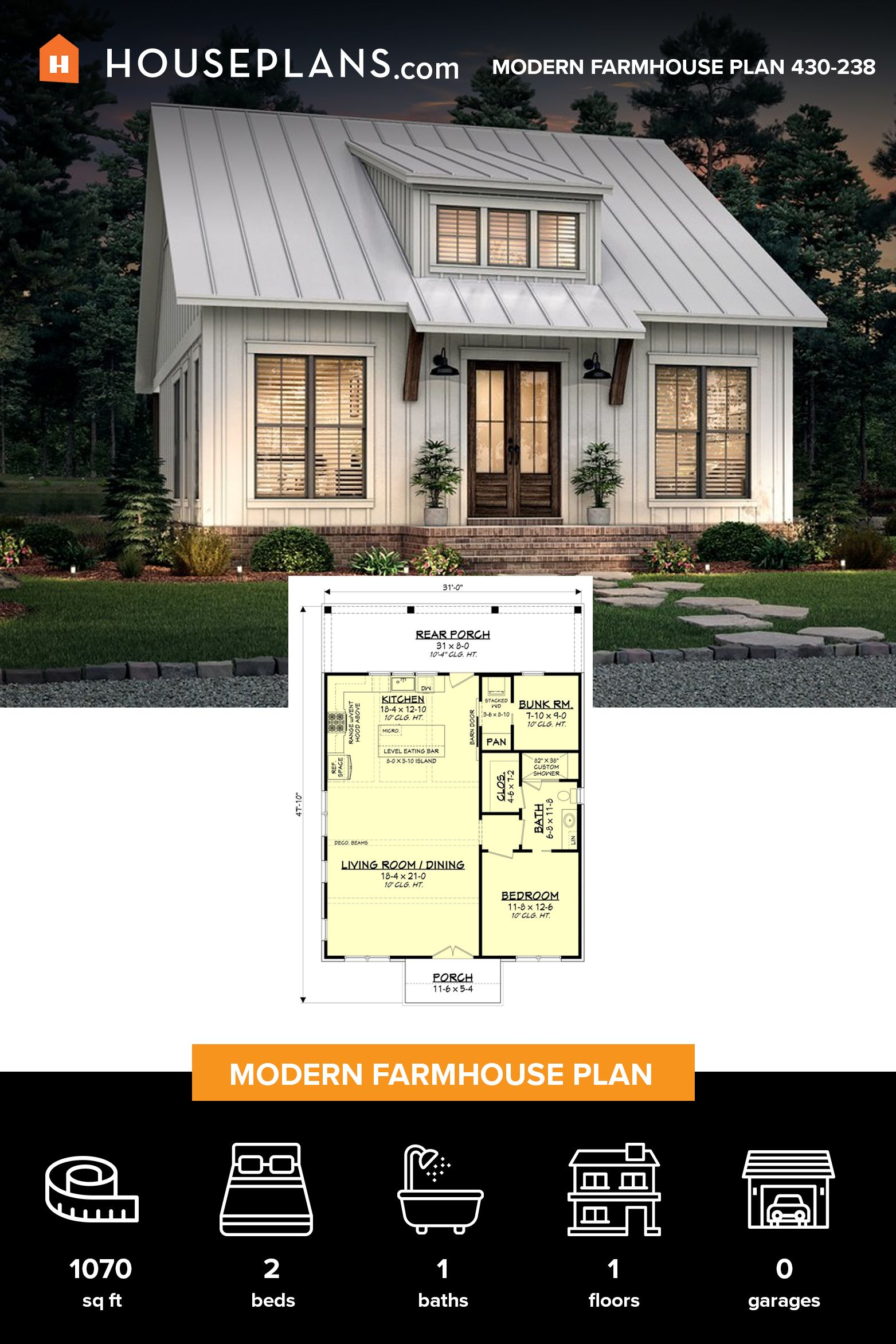 15+ Small modern farmhouse plans info