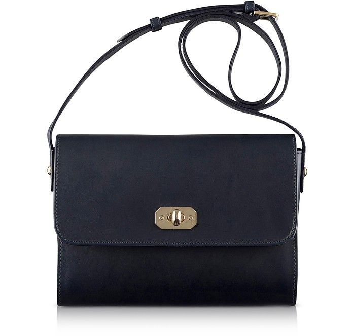 fb2a23ad41 A.P.C. Greenwich Black Leather Crossbody Bag.  a.p.c.  bags  shoulder bags   leather  lining  crossbody  cotton