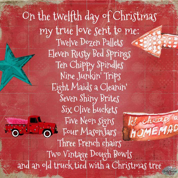 Twelve Days Of Vintage Christmas For Junkin' Repurposing And