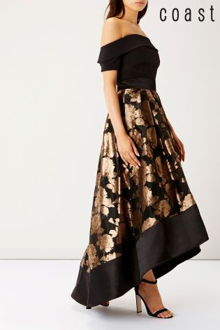 8aee8bf8cfd9c2 Buy Coast Flower Gold Rhian Skirt from the Next UK online shop ...