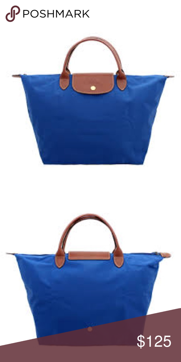 Longchamp Le Pliage Tote (blue) NEVER USED Completely New! Bright blue  color! Foldable so easy for travel! Longchamp Bags Totes 4e068618b7