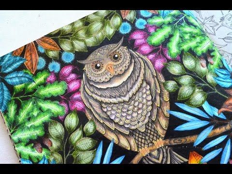 DIY How To Color Secret Garden Coloring Book