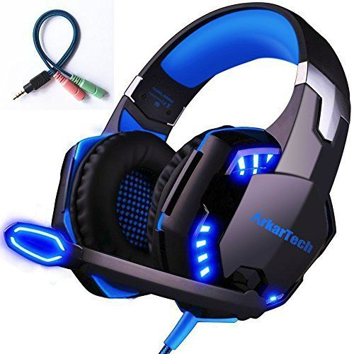 Gaming Headset with Mic for PC,PS4,LED Light KOTION EACH G9000 Lot CO