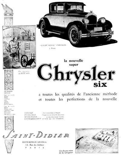 1926 Chyrsler Coupé Royal original vintage French