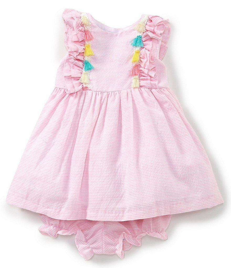 f0b163dcf1f Pippa   Julie Baby Girls Newborn-24 Months Flutter-Sleeve Fit-And-Flare  Dress