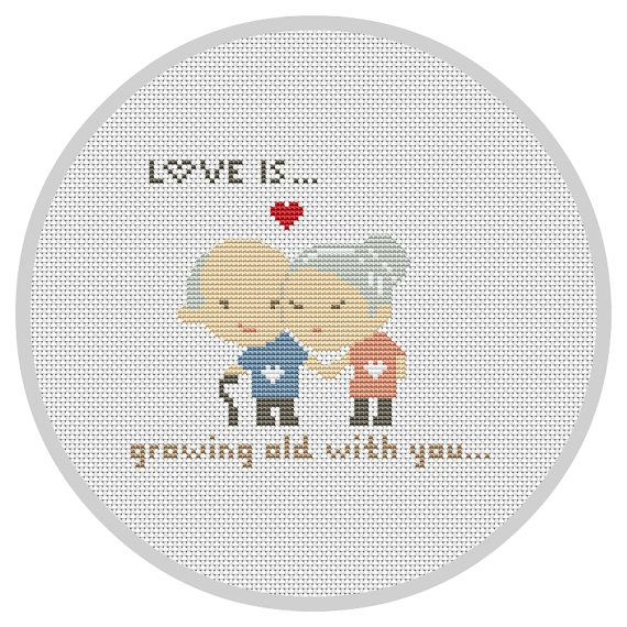 LOVE IS... Cross Stitch Pattern Modern Wedding cross stitch Funny ...