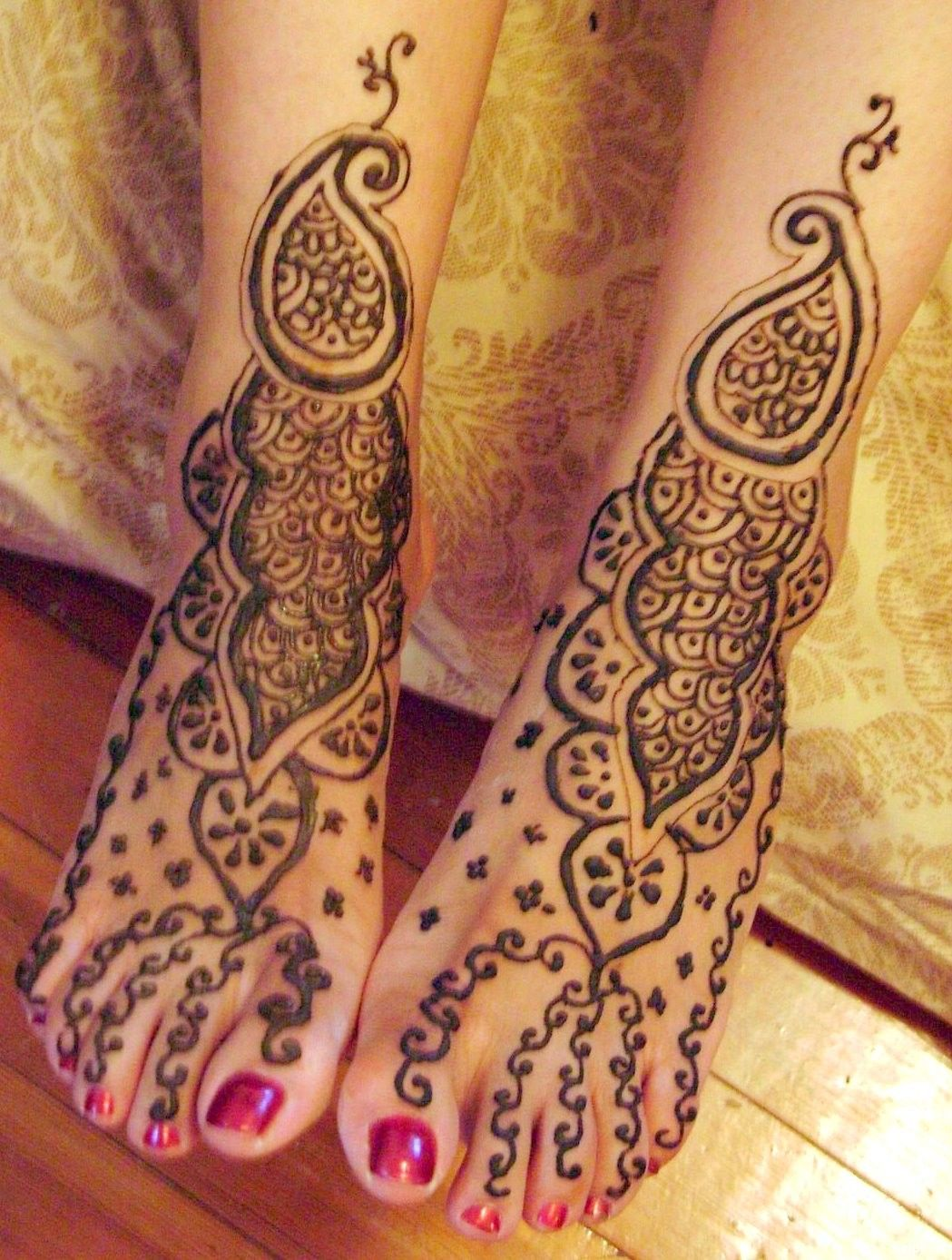 Traditional Henna Designs And Meanings Leg Traditional Henna