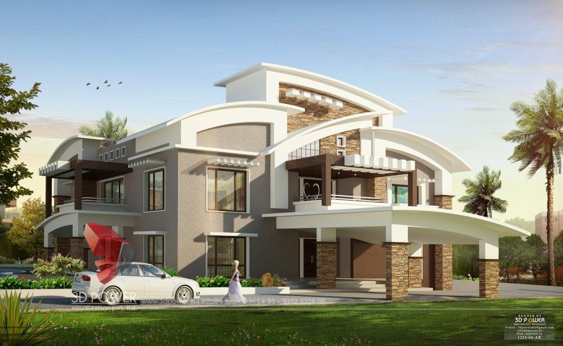Luxurious Bungalow Elevation Designing Company Power Modern House
