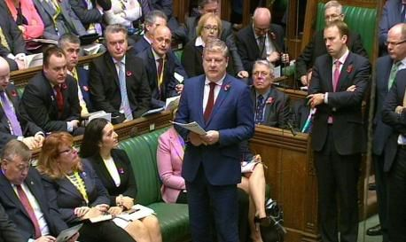 SNP Westminster leader Angus Robertson speaks in the House of Commons