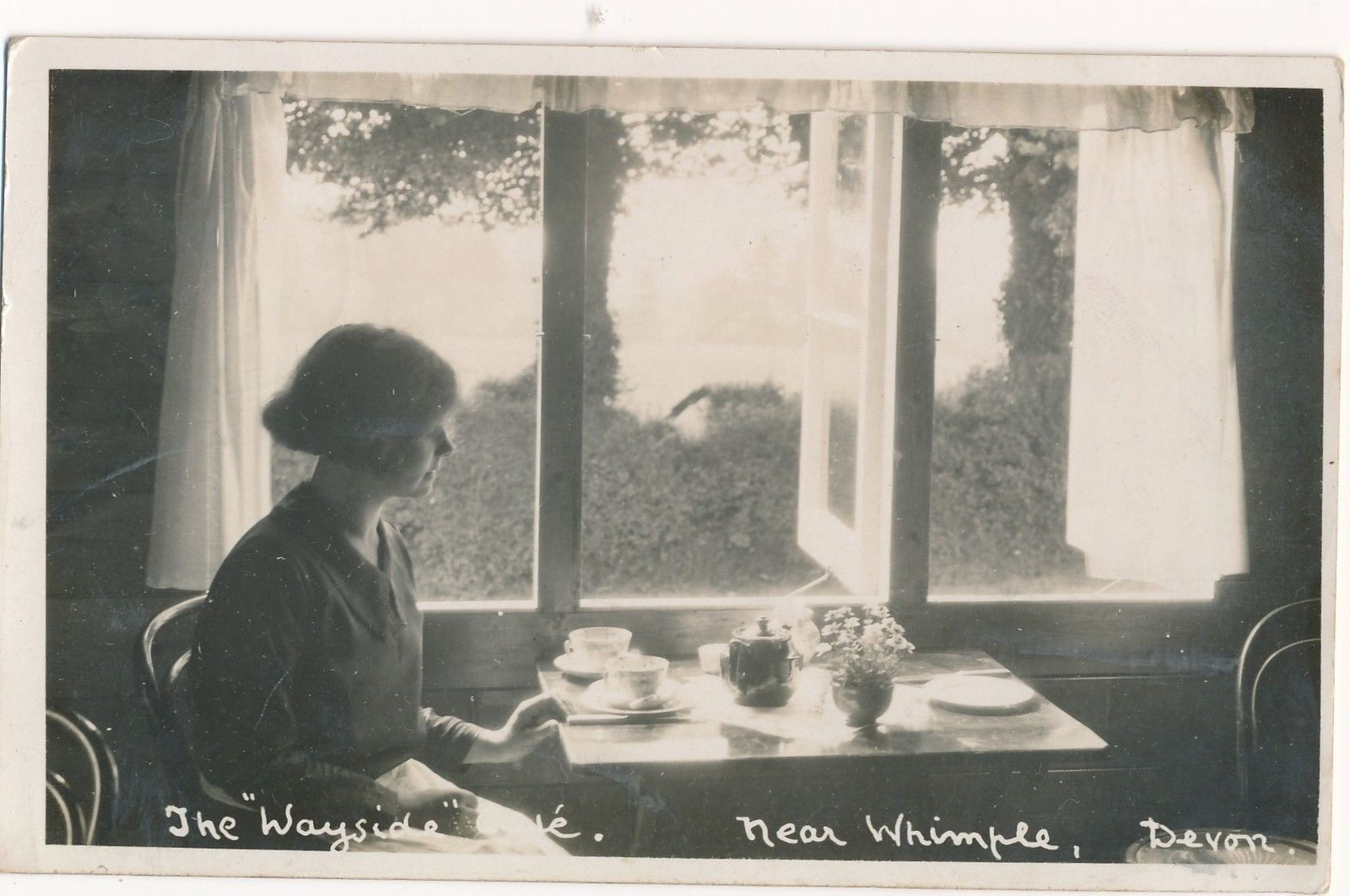 The Wayside cafe, WHIMPLE, DEVON. Some of my ancestors were from Whimple - if you're researching the Sanders or Willsman families, do get in touch! esjones <at> btopenworld.com