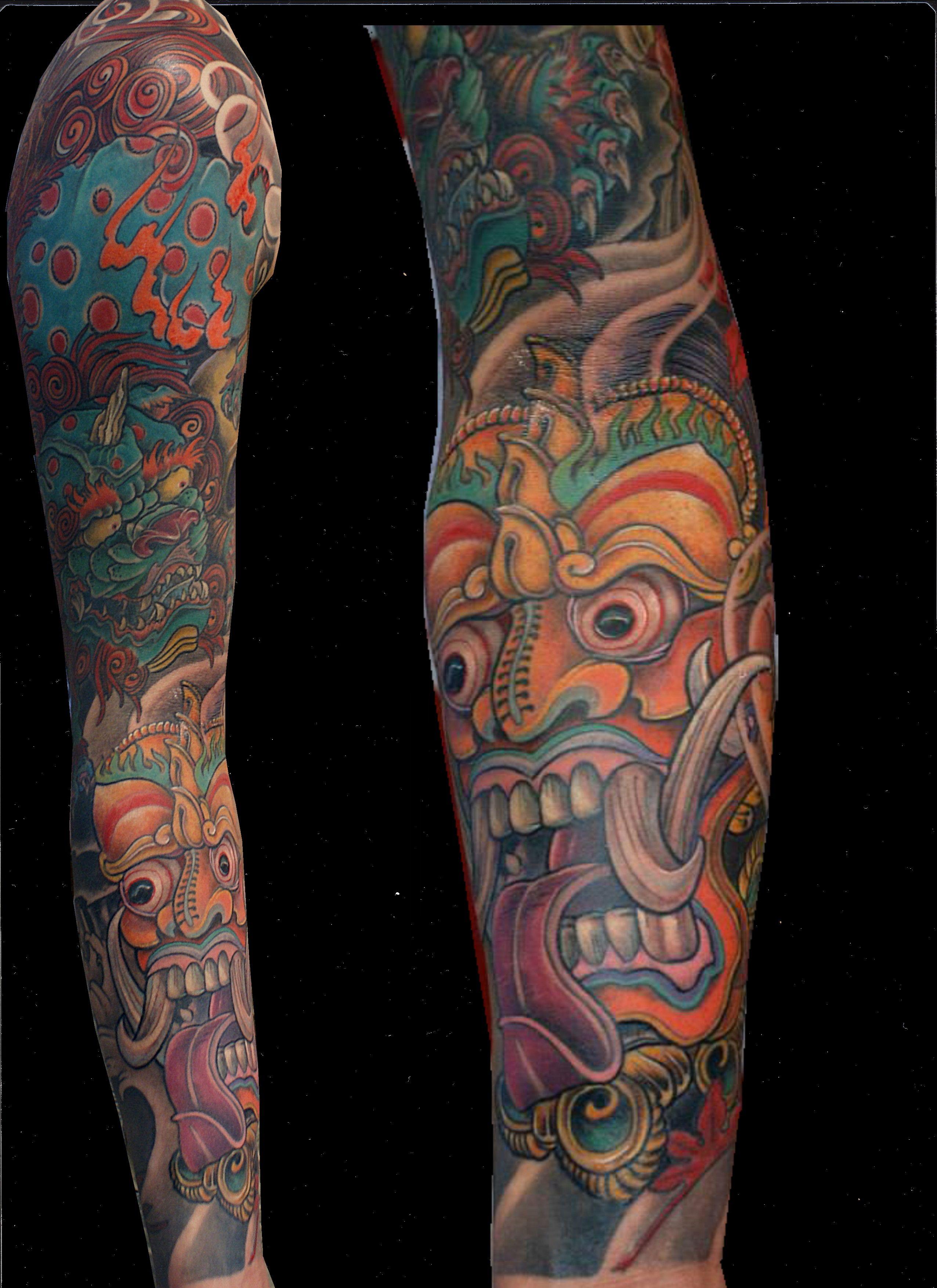 Japanese tattoo tattoorium barong foo dog tattoos and for Hanzo tattoo sleeve