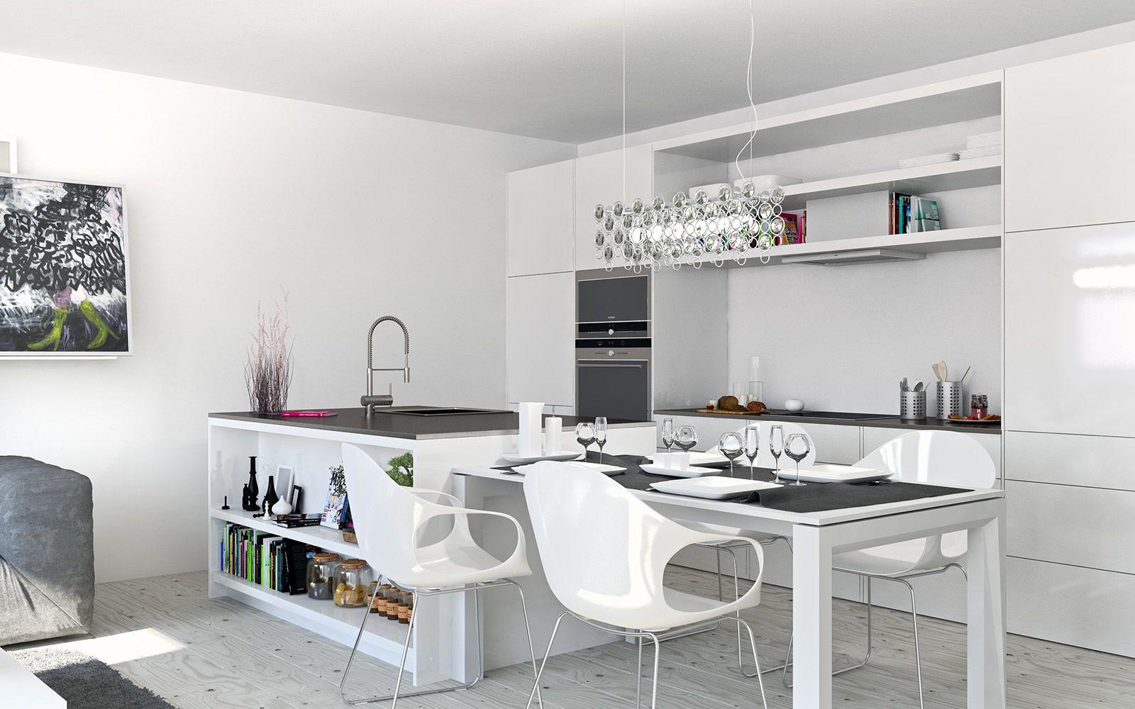 Weiß Wohnküche - Retro-Ufo | Einrichten | Pinterest | Kitchens ...