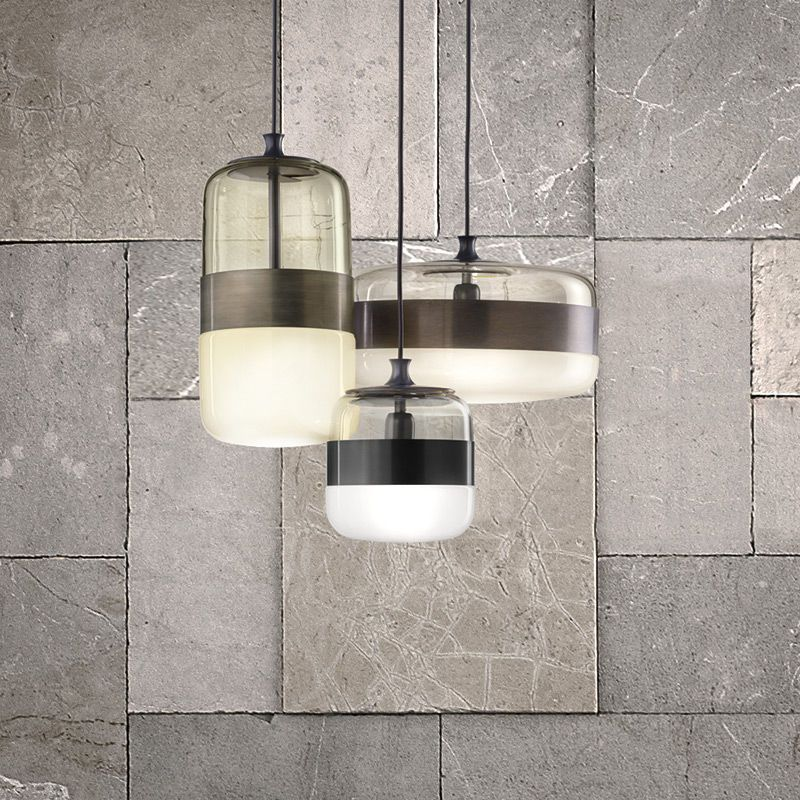 Pendant Lamp Contemporary Blown Glass Metal Futura By Hangar Design Group Vetreria Vistosi Vistosi Pendant Light Pendant Light Fixtures