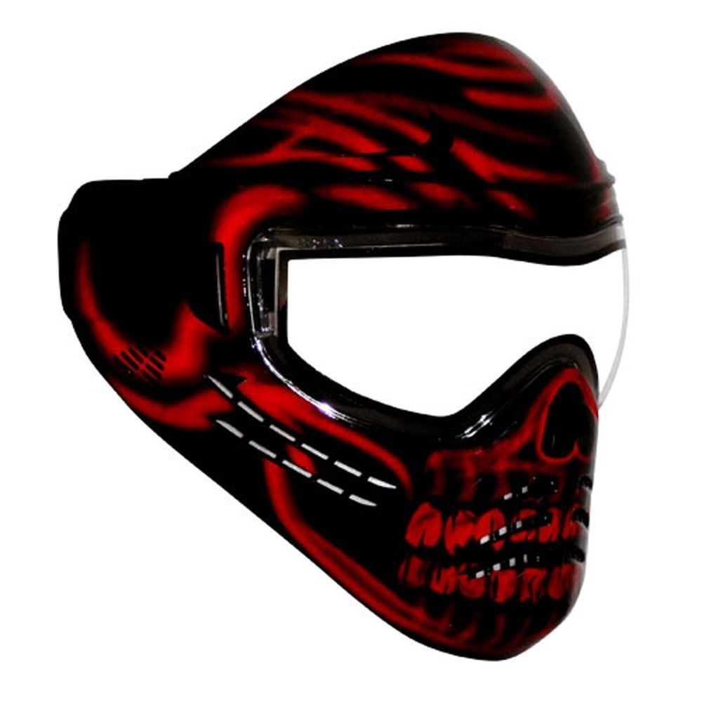 Save Phace Diablo Red Skull Paintball Goggle Mask Diss Series Paintball Mask Paintball Red Skull