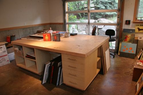 Awesome Work Surface Art Studio At Home Studio Table Art