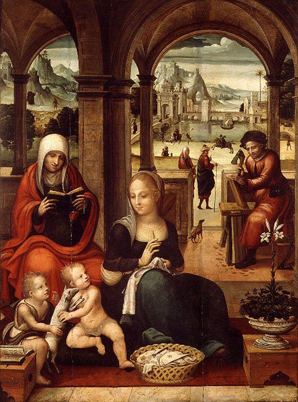 Sagrada Família Por Miquel Esteve En Primer Cuarto Del Siglo Xvi España Arte Renacentista Pinturas Renacentistas Renacentismo Pinturas Del Renacimiento