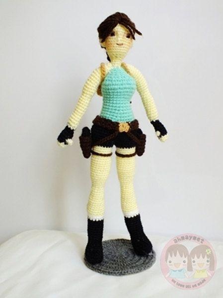 Lara Croft amigurumi. How epic is this?! $7.99 from Etsy | Lara ...